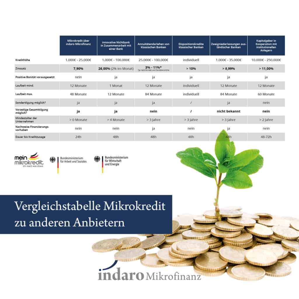 Mikrokredite im Vergleich zu anderen Banken