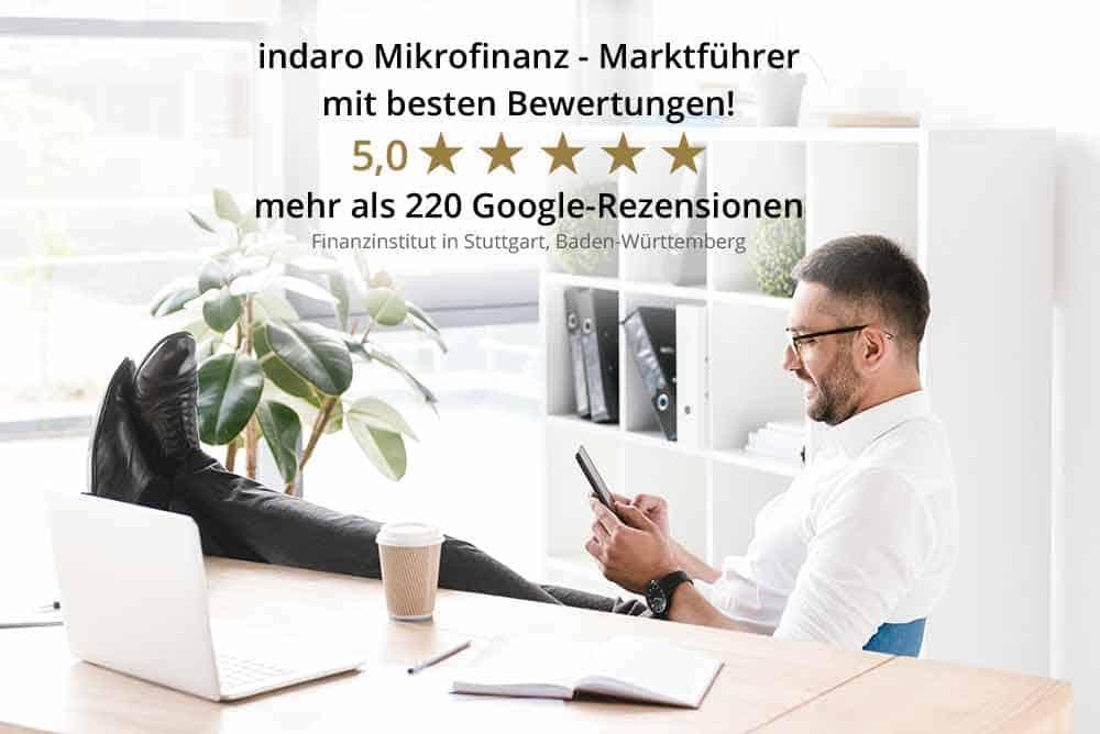 Kundenbewertungen der indaro Mikrofinanz - Positive Kundenbewertungen